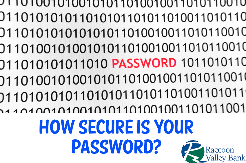 Password security is paramount to your financial security