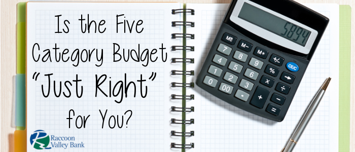 The Five Category budget